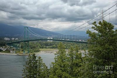 Photograph - Lion's Gate Bridge, Vancouver by Patricia Hofmeester