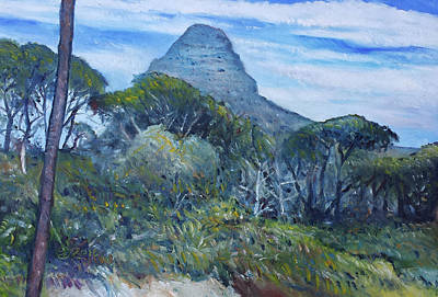 Painting - Lions Head Cape Town South Africa 2016 by Enver Larney