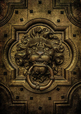 Photograph - Lion's Head Doorknob by Jaroslaw Blaminsky