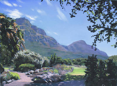 Painting - Lions Head From Kirstenbosch by Christopher Reid