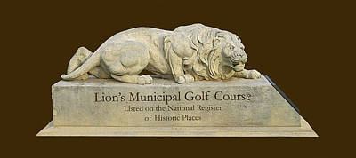 Golf Statues Photograph - Lion's Municipal Golf Course by Jim Smith