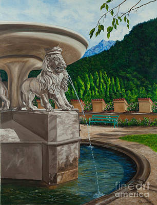Lions Of Bavaria Art Print by Charlotte Blanchard