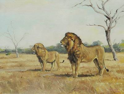 Painting - Lions Of Satara by Robert Teeling