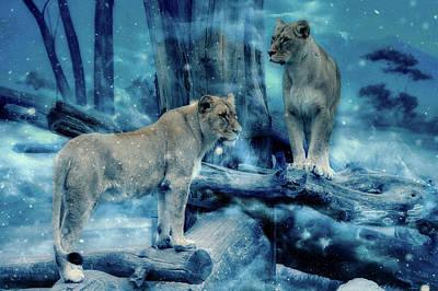 Lions Of The Mist Art Print by Ractapopulous