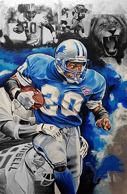 Detroit Lions Painting - Lion On The Loose by Joshua Jacobs