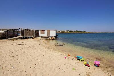 Photograph - Liopetri Beach Dockhouse by Jouko Lehto