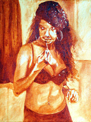 Alluring Painting - Lipgloss by Jacq Lovelace