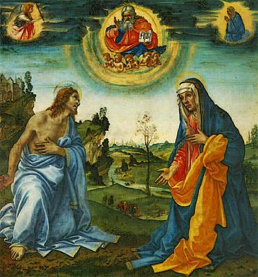 Lippi Filippino The Intervention Of Christ And Mary Art Print by Filippino Lippi