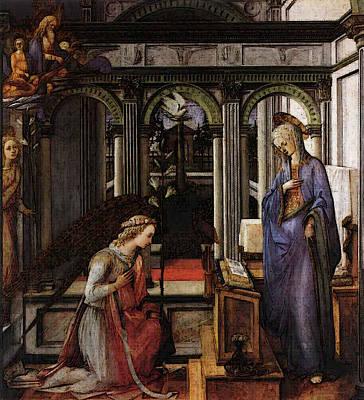 Lippi Fra Filippo Annunciation Art Print