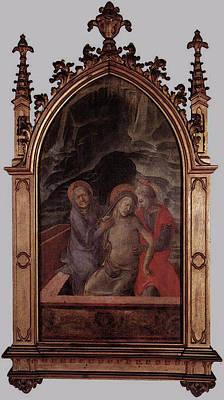 Pieta Digital Art - Lippi Fra Filippo Pieta by Fra Filippo Lippi