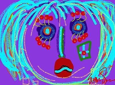 Lippy Girl Art Print