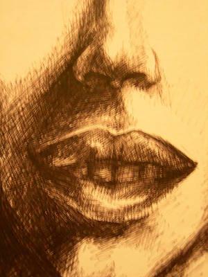 Lips Art Print by J Oriel