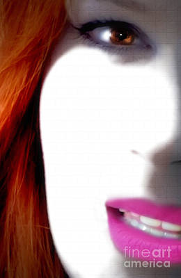 Manipulation Photograph - Lips by Steven Digman