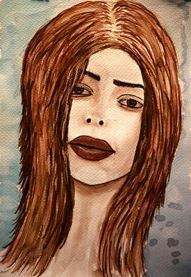 Painting - Lips's Lady. by Shlomo Zangilevitch