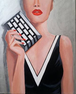 Painting - Lipstick by Rosie Sherman