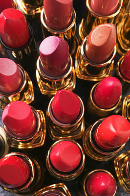 Color Image Photograph - Lipstick Rows by Garry Gay