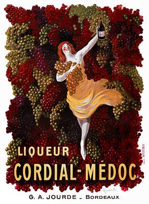 Vintage Wine Lovers Photograph - Liqueur Cordial-medoc - Paris 1908 by Daniel Hagerman