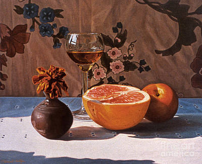 Painting - Liqueur Glass And Grapefruit by Daniel Montoya