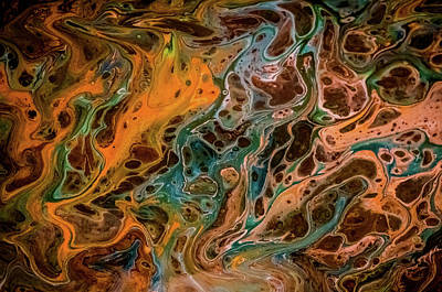 Painting - Liquid Abstract 1 by Lilia D