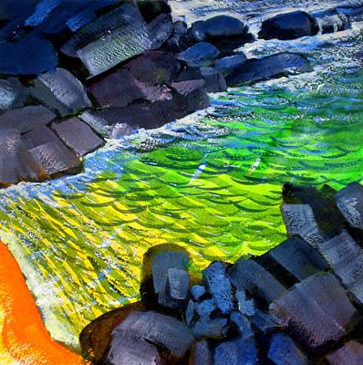 Paradise Painting - Liquid Abstract Eleven by Richard Rochkovsky