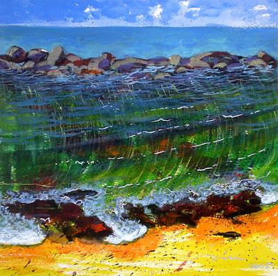 Fauvist Painting - Liquid Abstract Nine by Richard Rochkovsky