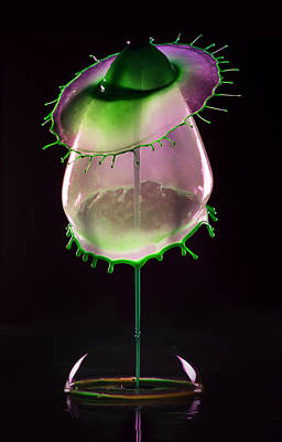 Photograph - Liquid Art Impression With Bubble by Jaroslaw Blaminsky