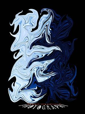 Digital Art - Liquid Blue Transparency by Robert Woodward