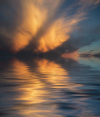 Liquid Cloud Art Print by Jerry McElroy