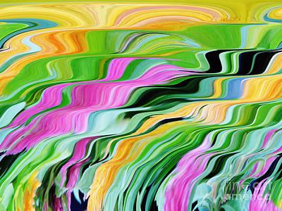 Digital Art - Liquid Colors by D Hackett