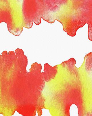 Painting - Liquid Fire Watercolor Abstract I by Irina Sztukowski