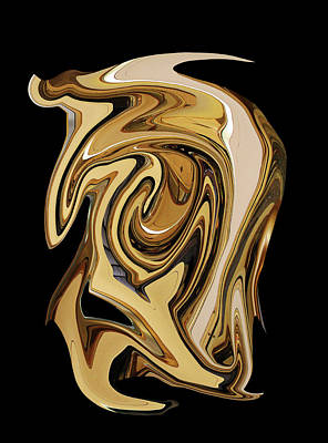 Photograph - Liquid Gold Transparency by Robert Woodward