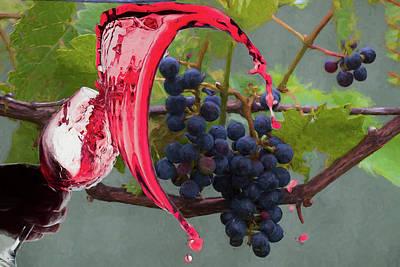 Photograph - Liquid Grape Spill by Dan Friend
