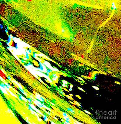 Liquid In Glass 7c Abstract  Art Print by Ken Lerner