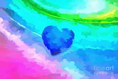 Abstract Hearts Photograph - Liquid Love by Krissy Katsimbras
