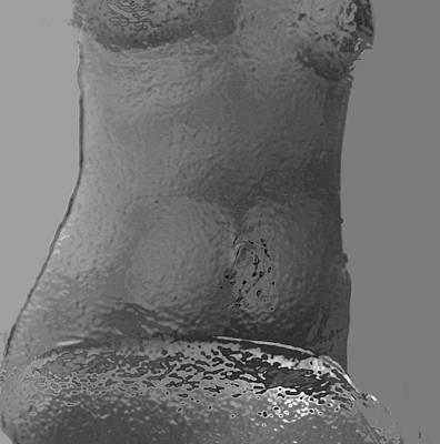 Mixed Media - Liquid Metal Nude by Claudia Goodell