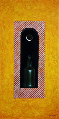 Bottle Painting - Liquid Moonlight by Horacio Cardozo