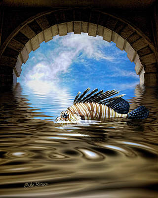 Digital Art - Liquid Obscura by Mike Braun