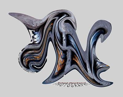 Digital Art - Liquid Rhino Transparency by Robert Woodward