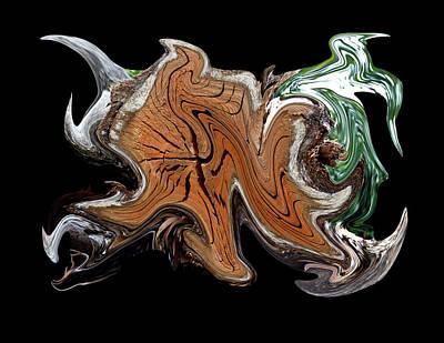 Digital Art - Liquid Stump Transparency by Robert Woodward