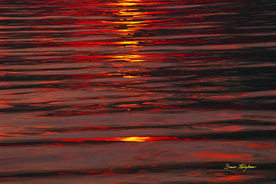 Photograph - Liquid Sunset - Lake Geneva Wisconsin by Bruce Thompson