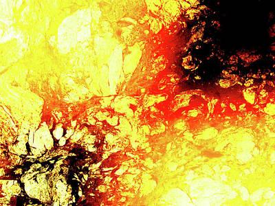Photograph - Liquid Volcano Burn by John Williams