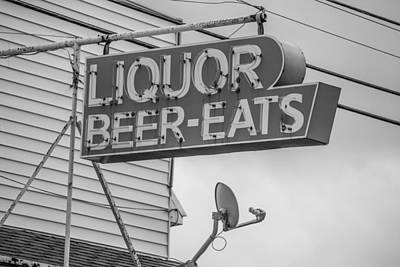 Photograph - Liquor Beer Eats Sign  by John McGraw