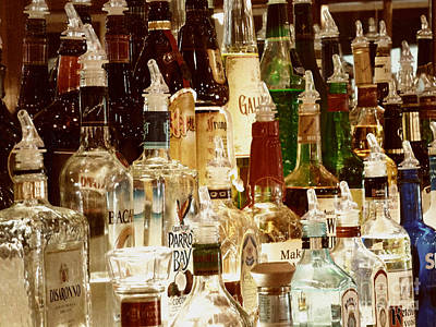 Photograph - Liquor Bottles by Methune Hively