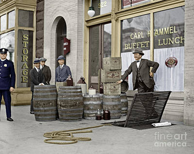 Photograph - Liquor Raid, 1923 by Granger