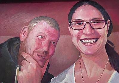 Painting - Lisa And Marc. by Mike Jeffries