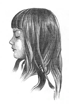 Drawing - Lisa by Dave Luebbert