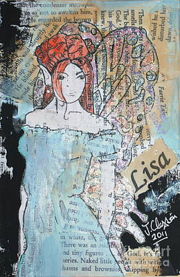Mixed Media - Lisa Fairy by Joanne Claxton
