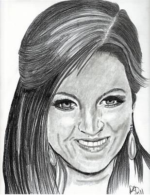 Lisa Marie Presley Art Print by DebiJeen Pencils