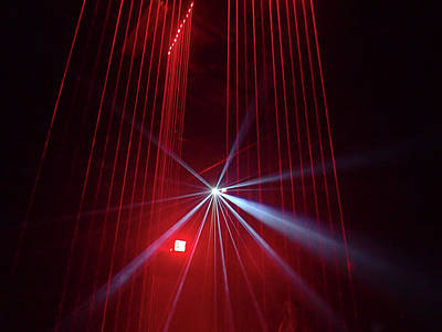 Photograph - Lisa Playing The Lasers by Newman Artography