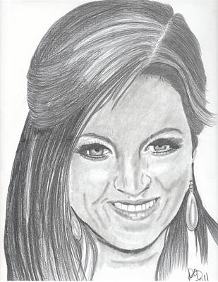 Lisa Presley II Art Print by DebiJeen Pencils